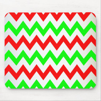 red green chevron mouse pad