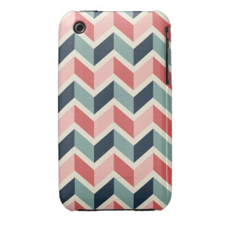 Red Green Chevron Pattern Geometric Designs Color Case-Mate iPhone 3 Cases