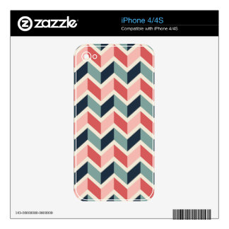 Red Green Chevron Pattern Geometric Designs Color Decals For The iPhone 4