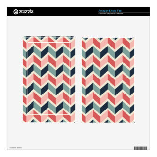 Red Green Chevron Pattern Geometric Designs Color Kindle Fire Decals