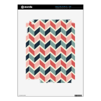Red Green Chevron Pattern Geometric Designs Color Skin For iPad 2