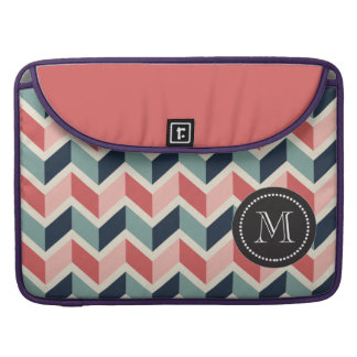 Red Green Chevron Pattern Geometric Designs Color Sleeve For MacBook Pro