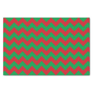 Red green chevron pattern tissue paper