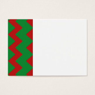Red Green Chevrons Business Card