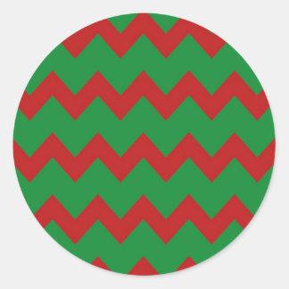 Red Green Chevrons Sticker