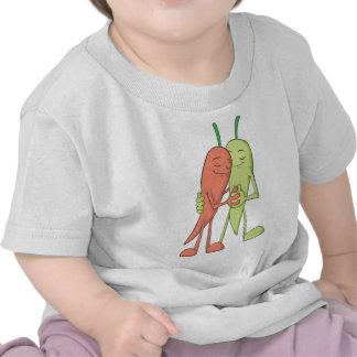 Red Green Chili Lovers Sweethearts Tee Shirts