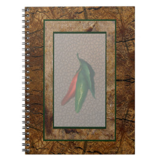 Red & Green Chili Pepper Spiral Notebook