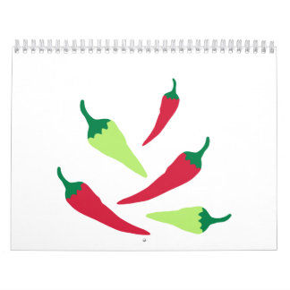 Red green chilies wall calendars