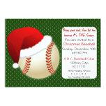 Red & Green Christmas Baseball Tournament Invitations