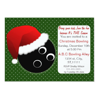 Red & Green Christmas Bowling Invitations