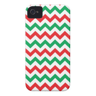 Red & Green Christmas Chevron Pattern iPhone 4/4s Case-Mate iPhone 4 Case