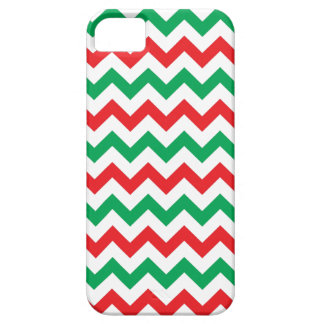 Red & Green Christmas Chevron Pattern iPhone 5 iPhone SE/5/5s Case