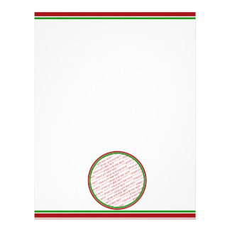 Red & Green (Christmas Colors) Trimmed Template Letterhead Design