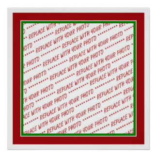 Red & Green (Christmas Colors) Trimmed Template Poster