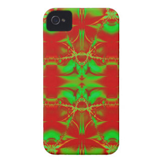 Red Green Christmas Fractal Case-Mate iPhone 4 Case