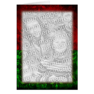 Red Green Christmas Frame Card