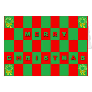Red & Green Christmas Greeting Card