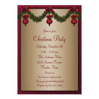 Red Green Christmas Holiday Party Announcement