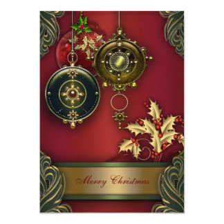 Red Green Christmas Holiday Party Card