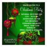 Red Green Christmas Holiday Party Personalized Invites