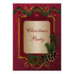 Red Green Christmas Holiday Party Invite