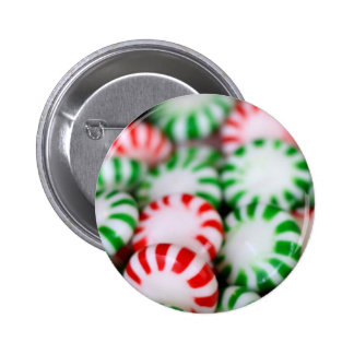 Red & Green Christmas Mints 2 Inch Round Button