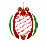 Red & Green Christmas Ornament Photo Frame Photo Cutouts