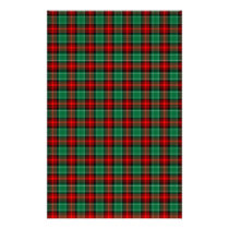 Red Green Christmas Plaid Scrapbook Stationery