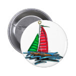 Red & Green Christmas Sailboat Buttons
