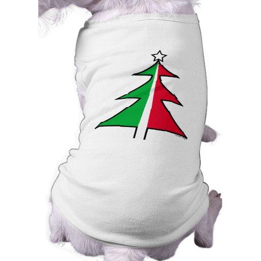Red Green Christmas Tree Pet T Shirt