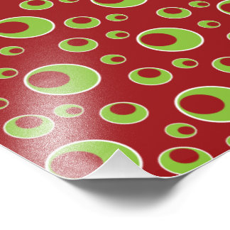 Red Green Circles Pattern Background Photo Print