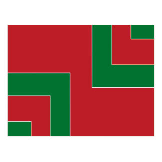 Red/Green Color Corner (MB) Postcard