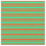 [ Thumbnail: Red & Green Colored Pattern of Stripes Fabric ]