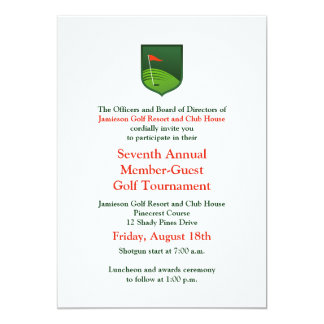 Red Green Corporate Golf Tournament Invitation