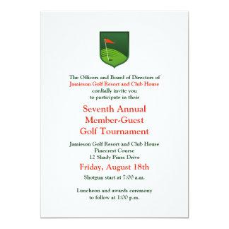 """Red Green Corporate Golf Tournament Invitation 5"""" X 7"""" Invitation Card"""