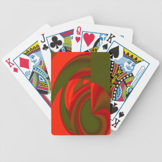 Red & Green Cubist Abstract Bicycle Playing Cards
