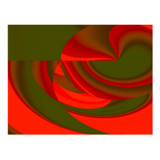 Red & Green Cubist Abstract Postcard