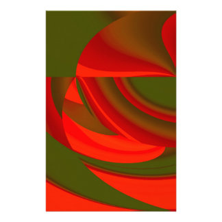 Red & Green Cubist Abstract Stationery