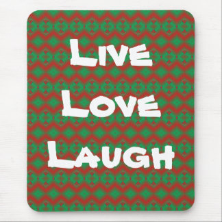 Red & Green Diamond Pattern Mouse Pad