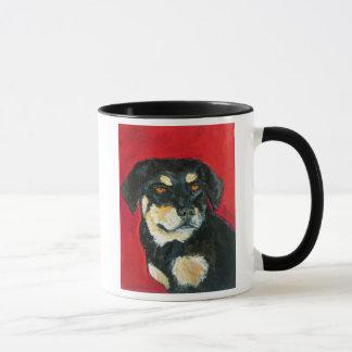 Red & Green Dog Mug