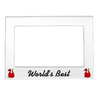 Red Green Dragon png Magnetic Photo Frame