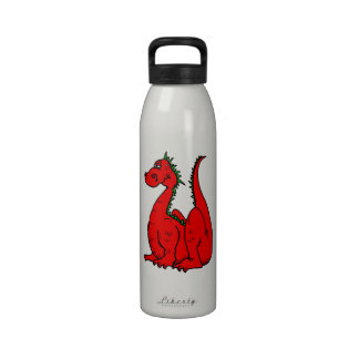 Red Green Dragon png Drinking Bottle