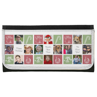 red green eight photos collage Mod photo wallet