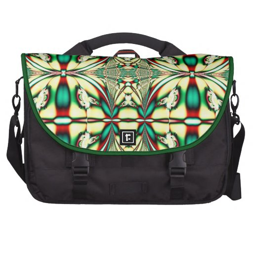Red Green Festive Christmas Pattern Commuter Bags