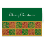 Red Green Fleur de Lis Holiday Cards