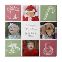 red green four photos collage photo tile