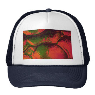 Red-green glistening bumps trucker hat
