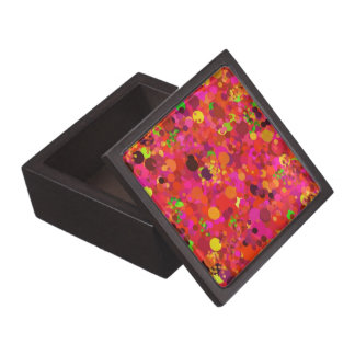 Red Green Gold & Pink Dots Colorful Decorative Premium Jewelry Box