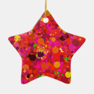 Red Green Gold & Pink Dots Decorative Ornament
