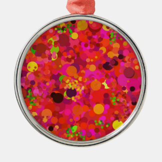 Red Green Gold Pink Dots Decorative Ornament Christmas Ornament